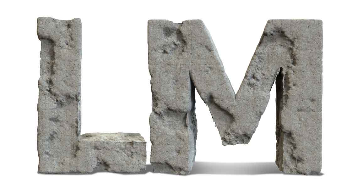 L & M letter in stone